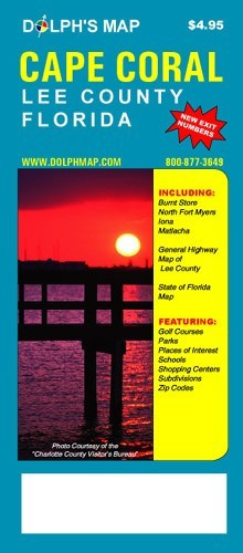 Cape Coral map - folding street map - Dolph Map Company