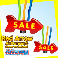 Giant Red Sale Arrow.  Huge inflatable arrow with tubes by AirDancers.com