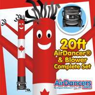 Canadian Flag Themed USA AirDancer® and Blower Complete Set by AirDancers.com