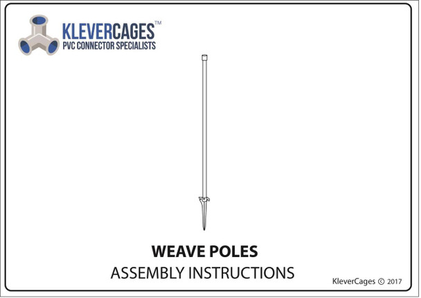 PVC weave pole instructions page one - Klever Cages