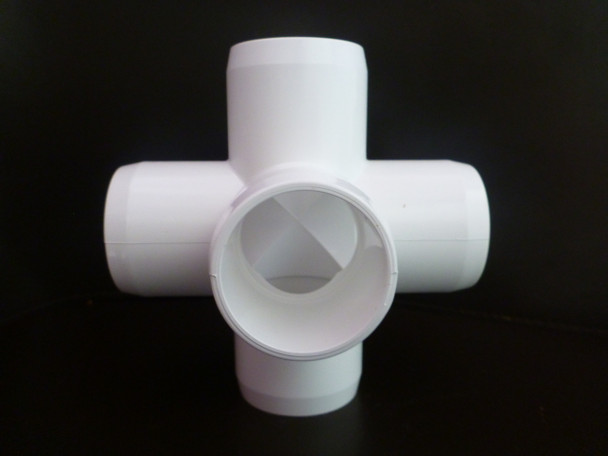 5 Way Cross PVC Connector suitable for frames and cages around the home and garden