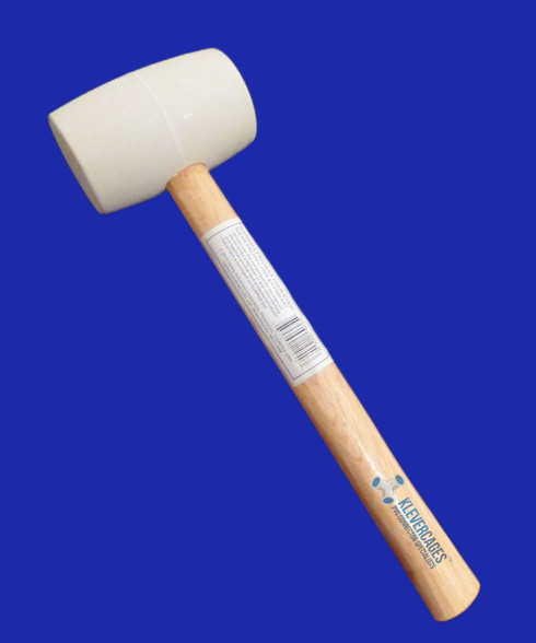 White 250g rubber mallet from Klever Cages