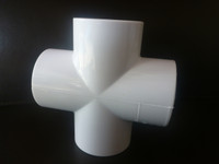 4 way Cross PVC Connector suitable for frames and cages around the home and garden