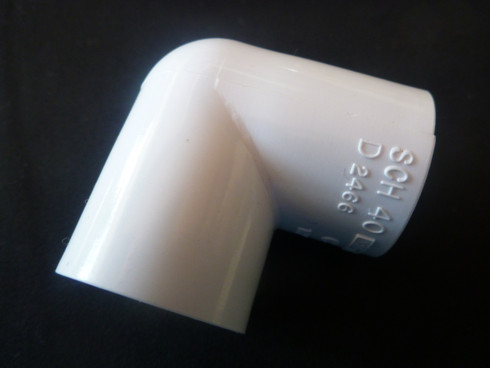 90 degree elbow to fit standard 15mm PVC pipe