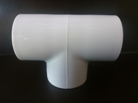 Tee PVC Connector suitable for frames and cages around the home and garden