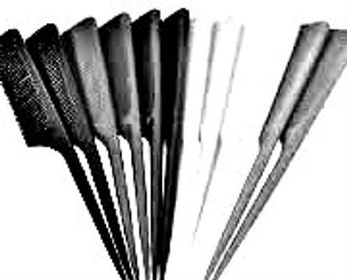 "Brittny 7"" Bone Tail Comb 12pk (Black)"