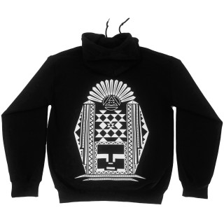 Aztec Hoodie | This Graphic Hoodie Features A Aztec Inspired Back Piece with an Original Mind Plugs Font Down the Sleeve |100% Cotton | Shop MP Streetwear