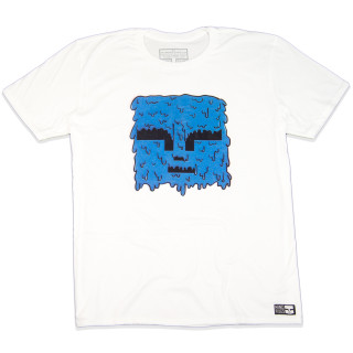 My Face Melted | This Graphic T-Shirt Features A Blue Mind Plugs Face logo Melting | Tagless 100% Ringspun Cotton | Shop Mind Plugs Streetwear