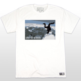 "Life is meant to be lived and we know that all skydivers ""live to shred"". Tell the world how you get down in casual clothing with this rad t-shirt of a fellow skydiver.  The 5.5-ounce, 100% ring spun cotton material makes this t-shirt a great everyday wear. The shirt is made tag-less for added comfort. The sleeves are a good length and not too short. For all skydivers with their feet on the ground, this t-shirt is bound to be a conversation starter. Who doesn't love to talk about skydiving? Soon to be the Best Action Sports Clothing in the Game!"