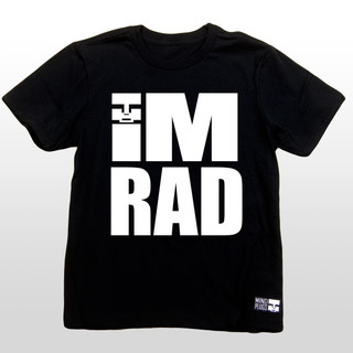"We made this cool kids shirt that states with ""IM RAD"" blasted on the front in white. As long as you are doing what you love that is all that matters and you are definitely rad to us! In case any of your friends forgot, remind them with this rad t-shirt. The 4.3-ounce, 100% soft spun cotton material makes this t-shirt a great everyday wear. The shirts are made tag-less for added comfort. The sleeves are a good length and not too short. This kids t-shirt is bound to last through all of your action sports slaying. Soon to be the Best Action Sports Clothing in the Game!"