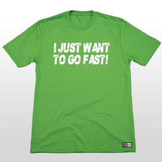 Who doesn't want to just go fast! This green graphic t shirt is simple but 100% true. Wether you are shredding the sky or riding your dirtbike all you want to do is GO FAST! The 4.5-ounce, 50/25/25 poly/combed ring spun combed cotton/rayon material is very comfortable and great for everyday wear. The shirt is made tagless to added comfort so you can send it without that itchy tag on your neck. #ijustwanttogofast