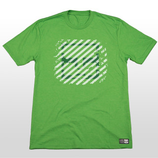 This graphic shirt features a variety of green colors that give it a truly blended feel. The design is simple but perfect for everyday wear! This 4.5-ounce, 50/25/25 poly/combed ring spun combed cotton/rayon is very soft so it is an easy choice for any activity. The shirt is made tagless for added comfort, so no matter what action sports your doing this shirt is bound to keep you looking and feeling good!