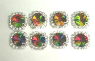 10 Pieces - 14 mm Round Glass Stone Multi Color