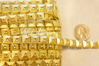 10 Yard Pack  1 cm Square Hex Trim Gold