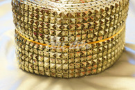 10 Yard Roll Netted Square Plastic Trim Silver