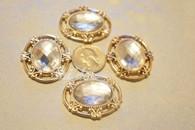 20 Pieces S889 Oval Rhinestone Embellishments