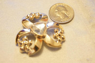20 Pieces S886 Rhinestone Embellishments Gold