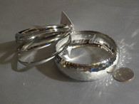 Faceted Bangle - Silver