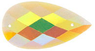 10 Pieces - 16 x 30 mm Tear Drop Stone Yellow Glitter AB