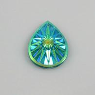 10 Pieces - 20 x 30 mm Teardrop Stone Green AB