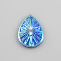 10 Pieces - 20 x 30 mm Teardrop Stone Royal Blue AB
