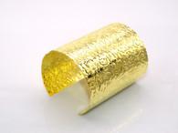 Gold Floral Cuff