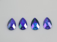 50 Pieces - 16 x 30 mm Cosmic Fury Teardrop Stone - Purple