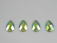 50 Pieces - 16 x 30 mm Cosmic Fury Teardrop Stone - Lime