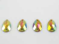 50 Pieces - 16 x 30 mm Cosmic Fury Teardrop Stone - Yellow