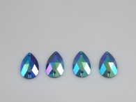 50 Pieces - 16 x 30 mm Cosmic Fury Teardrop Stone - Turquoise