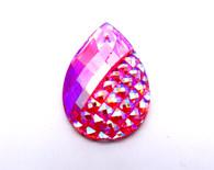 10 Pieces - 20x30 mm  Sugar Splash Teardrop Stone - Pink AB