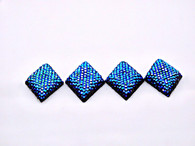 20 Pieces - 20x33 mm Diamond Metallic Stone - Blue/Black AB
