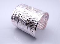 Silver Ancient Myan Cuff  2