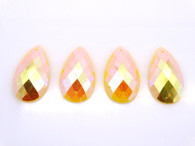 50 Pieces - 16 x 30 mm Tear Drop Stone Yellow AB