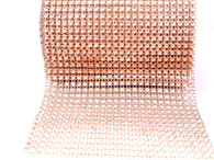 Per Yard Netted Plastic Trim -  Rose Gold