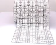 Per Yard Netted Hex Plastic Trim -  Silver