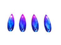 50 Pieces - 8 x 28 mm Tear Drop Stone Two Tone Blue/Pink
