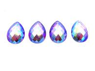 50 Pieces - 18x25 mm Teardrop Stone - Purple AB