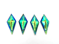 50 Pieces - 13 x 28 mm Diamond Stone - Turquoise AB