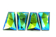 10 Pieces - 25x42 mm Rhombus Stone - Turquoise AB