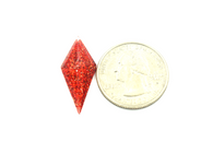 50 Pieces - 13 x 28 mm Diamond Stone - Glitter Red
