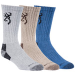 Browning Cottonwood Socks Multi Color 3 pk.