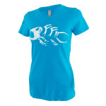 FIn-Finder Women's Gaff Tee Blue Medium