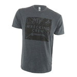Fin-Finder Wrecking Crew Tee Charcoal Large