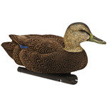Avian X Top Flight Duck Decoy Flocked Black Duck Floater 6pk