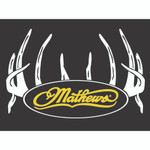 DWD Mathews Decal White Antlers Only