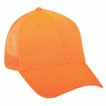 Outdoor Cap Mesh Back Hat Blaze Orange