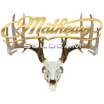 DWD Mathews Decal Solocam Skull Gold 10x8 in.