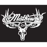 DWD Mathews Decal Skull White 11x7 in.