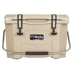 Grizzly RotoMolded Cooler Sandstone 20 qt.